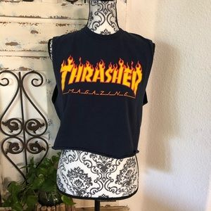 Thrasher faded cropped muscle tee